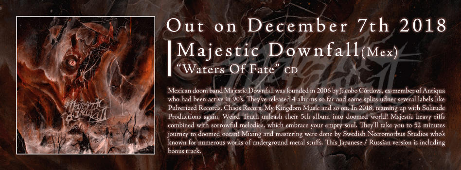 Majestic Downfall - Water of Fate - CD