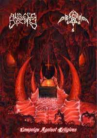 Angel's Decay (Svk) / Obscure (Pol) -  Campaign Against Religion - pro CDR with DVD case