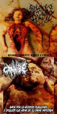 Sadistic Lingam Cult (Jpn) / Cannibe (Ita) - Bloodthirsty When I Crave / Amor por la necrosis purulenta y disgusto que viene de su carne infectada - CD